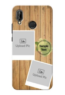 Huawei P20 Lite 3 image holder with wooden texture  Design