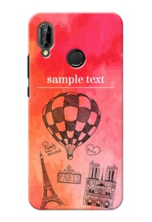 Huawei P20 Lite abstract painting with paris theme Design