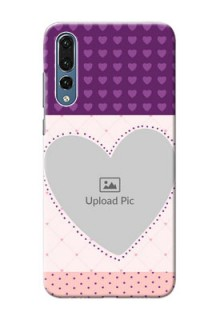 Huawei P20 Pro Violet Dots Love Shape Mobile Cover Design