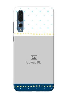 Huawei P20 Pro White And Blue Abstract Mobile Case Design