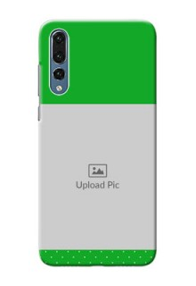 Huawei P20 Pro Green And Yellow Pattern Mobile Cover Design