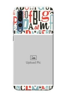 Huawei P20 Pro Colourful Alphabets Mobile Back Case Design