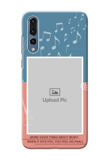 Huawei P20 Pro 2 colour backdrop with music theme Design