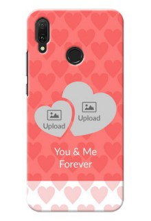 Huawei Y9 (2019) personalized phone covers: Couple Pic Upload Design