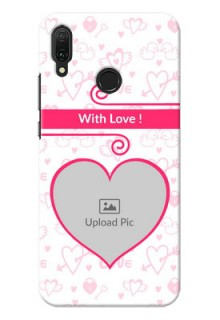 Huawei Y9 (2019) Personalized Phone Cases: Heart Shape Love Design