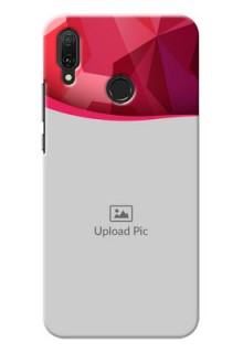 Huawei Y9 (2019) custom mobile back covers: Red Abstract Design