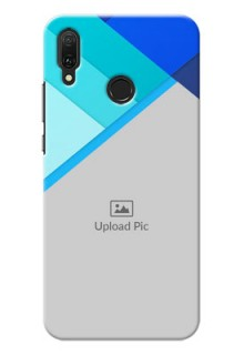 Huawei Y9 (2019) Phone Cases Online: Blue Abstract Cover Design
