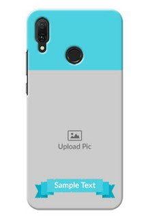 Huawei Y9 (2019) Personalized Mobile Covers: Simple Blue Color Design