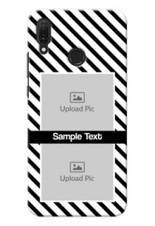 Huawei Y9 (2019) Back Covers: Black And White Stripes Design