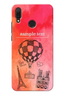 Huawei Y9 (2019) Personalized Mobile Covers: Paris Theme Design