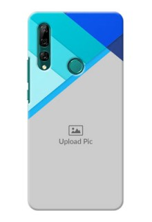 Huawei Y9 Prime 2019 Phone Cases Online: Blue Abstract Cover Design