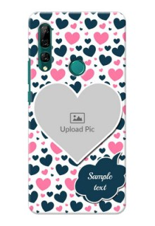 Huawei Y9 Prime 2019 Mobile Covers Online: Pink & Blue Heart Design