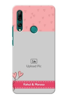 Huawei Y9 Prime 2019 phone back covers: Love Design Peach Color