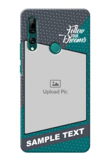 Huawei Y9 Prime 2019 Back Covers: Background Pattern Design with Quote