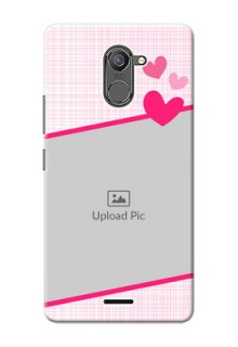 Infinix Hot 4 Pro Pink Design With Pattern Mobile Cover Design