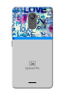 Infinix Hot 4 Pro Colourful Love Patterns Mobile Case Design
