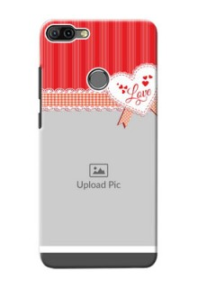 Infinix HOT 6 PRO phone cases online: Red Love Pattern Design