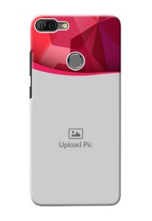 Infinix HOT 6 PRO custom mobile back covers: Red Abstract Design