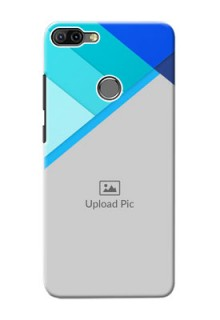 Infinix HOT 6 PRO Phone Cases Online: Blue Abstract Cover Design