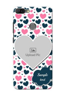 Infinix HOT 6 PRO Mobile Covers Online: Pink & Blue Heart Design