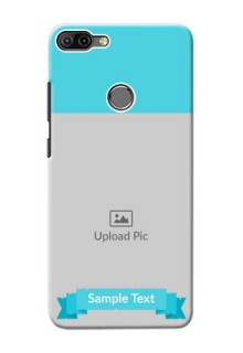 Infinix HOT 6 PRO Personalized Mobile Covers: Simple Blue Color Design