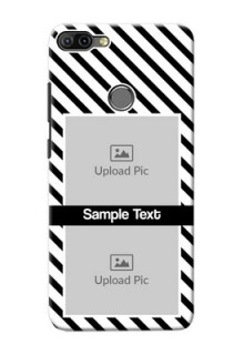 Infinix HOT 6 PRO Back Covers: Black And White Stripes Design