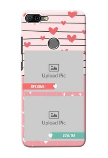 Infinix HOT 6 PRO custom mobile covers: Photo with Heart Design