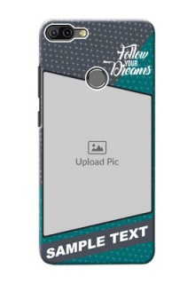 Infinix HOT 6 PRO Back Covers: Background Pattern Design with Quote