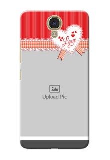 Infinix Note 4 Red Pattern Mobile Cover Design