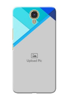 Infinix Note 4 Blue Abstract Mobile Cover Design