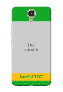 Infinix Note 4 Green And Yellow Pattern Mobile Cover Design