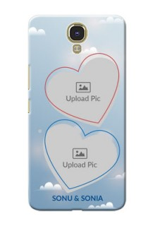 Infinix Note 4 couple heart frames with sky backdrop Design