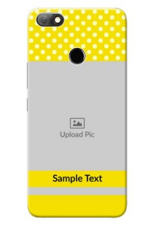 Infinix Note 5 Custom Mobile Covers: Bright Yellow Case Design