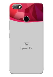 Infinix Note 5 custom mobile back covers: Red Abstract Design