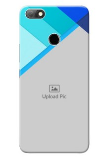 Infinix Note 5 Phone Cases Online: Blue Abstract Cover Design