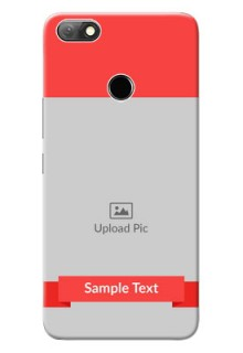 Infinix Note 5 Personalised mobile covers: Simple Red Color Design
