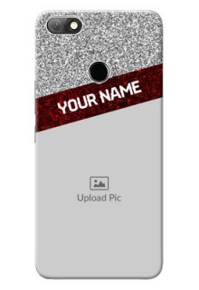 Infinix Note 5 Mobile Cases: Image Holder with Glitter Strip Design