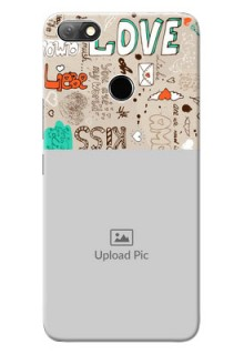 Infinix Note 5 Personalised mobile covers: Love Doodle Pattern