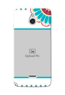 InFocus M2 Colourful Flowers Mobile Cover Design