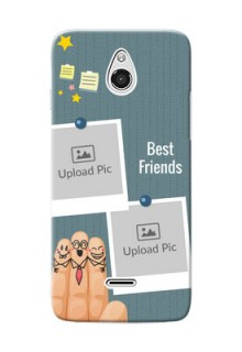 InFocus M2 3 image holder with sticky frames and friendship day wishes Design