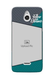 InFocus M2 2 colour background with different patterns and dreams quote Design