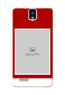 InFocus M330 Simple Red Colour Mobile Cover  Design