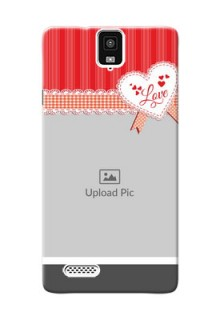 InFocus M330 Red Pattern Mobile Cover Design