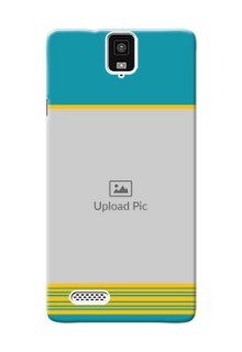 InFocus M330 Yellow And Blue Pattern Mobile Case Design
