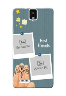 InFocusM330 3 image holder with sticky frames and friendship day wishes Design