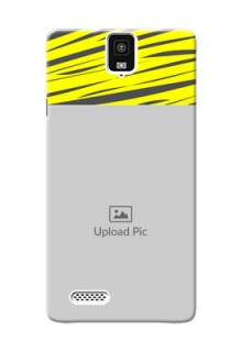 InFocus M330 yellow abstract stripes design Design Design