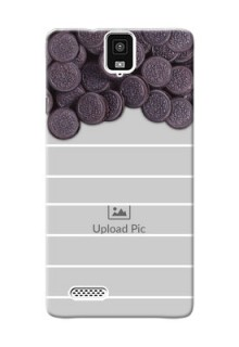 InFocus M330 oreo biscuit pattern with white stripes Design Design