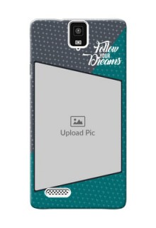 InFocus M330 2 colour background with different patterns and dreams quote Design Design
