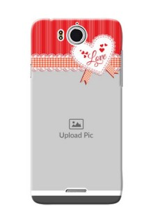 InFocus M530 Red Pattern Mobile Cover Design
