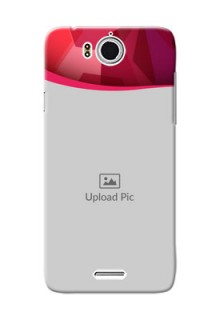 InFocus M530 Red Abstract Mobile Case Design